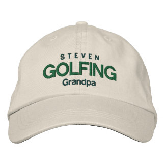 GOLFING GRANDPA Personalized Adjustable Hat V04A Embroidered Hat
