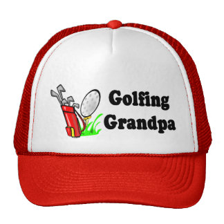 Golfing Grandpa T-shirts and Gifts. Trucker Hat