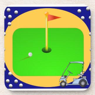 Golfing Green Coaster