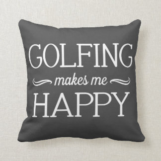 Golfing Happy Pillow - Assorted Styles & Colors
