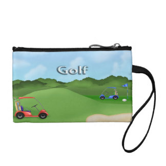 Golfing Key Coin Clutch Coin Wallet