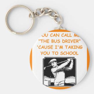 golfing basic round button keychain