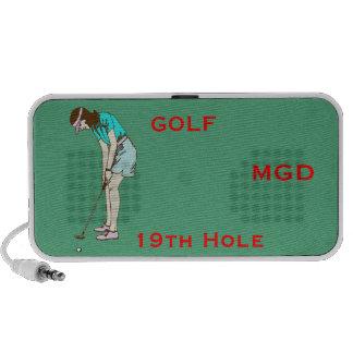 Golfing Lady nineteenth design on a Doodle speaker
