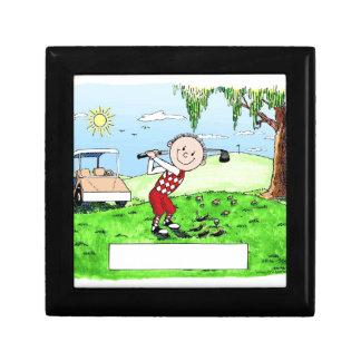 Golfing, Male- Personalized Friendly Folks Cartoon Gift Box