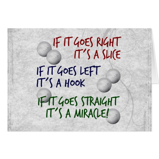 Golfing  Miracle Greeting Cards