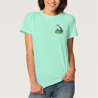 Golfing Mrs Claus Embroidered Shirts