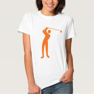Golfing - Orange T Shirts