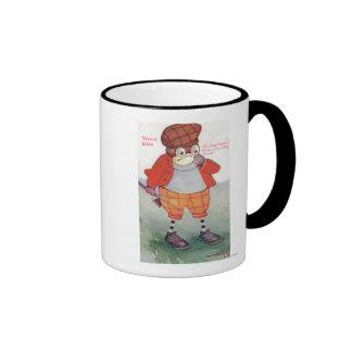 Golfing Owl Noting Silence is Golden Coffee Mugs