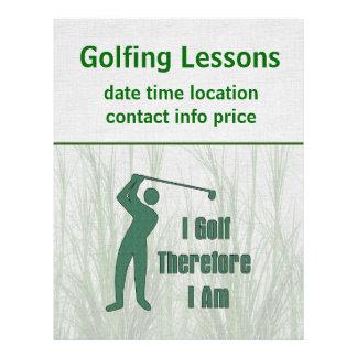 Golfing Philosophy Flyer Design