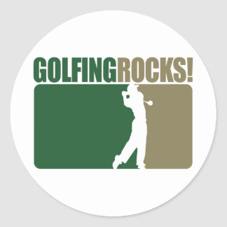 Golfing Rocks! Classic Round Sticker