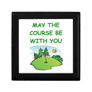 golfing small square gift box