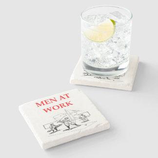 golfing stone beverage coaster