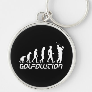 Golfolution Silver-Colored Round Key Ring