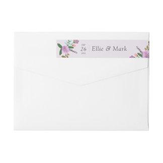 Golightly Floral Wedding Wrap Around Label
