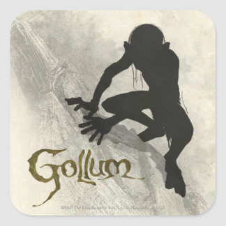 Gollum Concept Sketch Square Sticker
