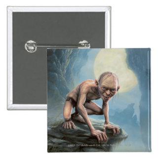 Gollum with Moon 15 Cm Square Badge
