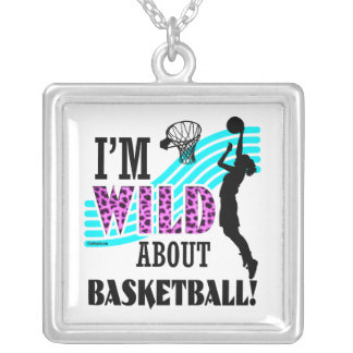 Golly Girls: I'm WILD about Basketball Silver Plated Necklace