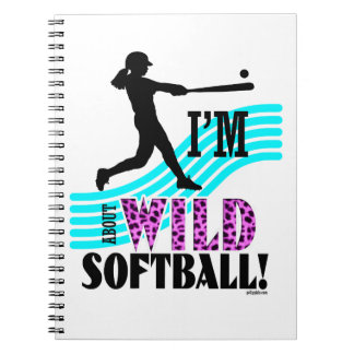 Golly Girls: I'm WILD about Softball Notebooks