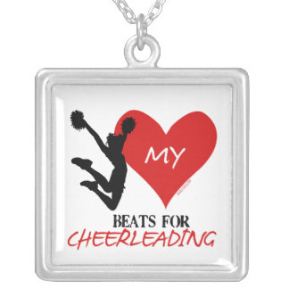 Golly Girls - My Heart Beats for Cheerleading Silver Plated Necklace