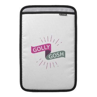 Golly Gosh Funny British Retro MacBook Sleeve