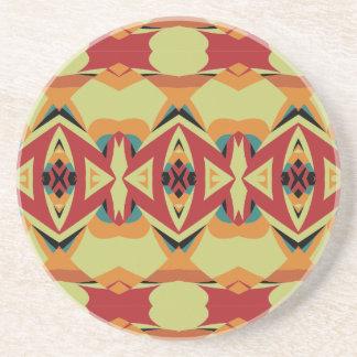 Gometric Pattern Sandstone Coaster