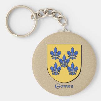 Gomez Historical Shield Basic Round Button Key Ring