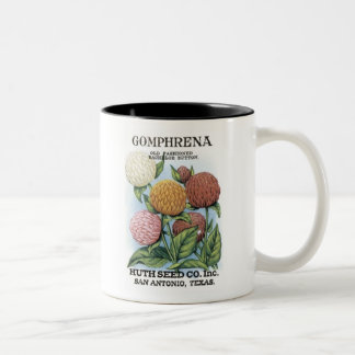 Gomphrena, Huth Seed Co Mug
