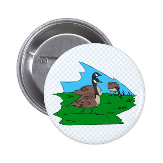 Gonda goose pinback button