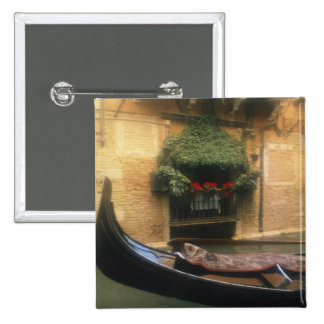 Gondola and Restaurant, Venice, Veneto, Italy 15 Cm Square Badge
