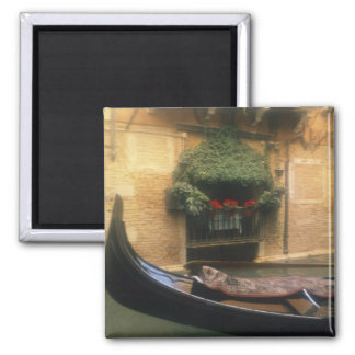 Gondola and Restaurant, Venice, Veneto, Italy Square Magnet