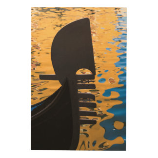 Gondola and water ripples, Italy Wood Prints