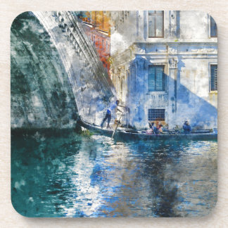 Gondola in the Grand Canal of Venice Italy Coaster