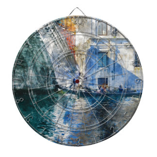 Gondola in the Grand Canal of Venice Italy Dartboard