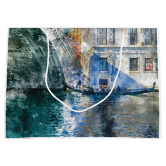 Gondola in the Grand Canal of Venice Italy Large Gift Bag