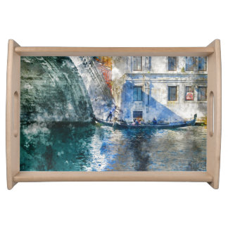 Gondola in the Grand Canal of Venice Italy Serving Tray