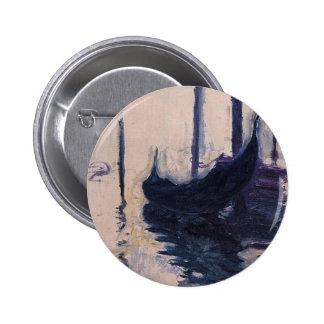 Gondola in Venice by Claude Monet 6 Cm Round Badge