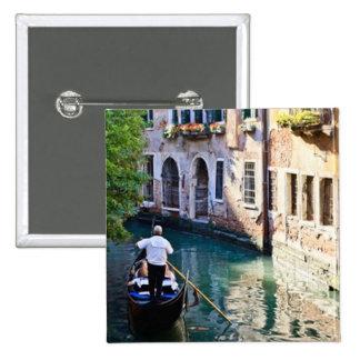 Gondola in Venice Italy 15 Cm Square Badge
