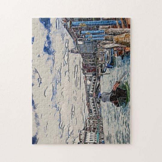 Gondola in Venice Jigsaw Puzzle
