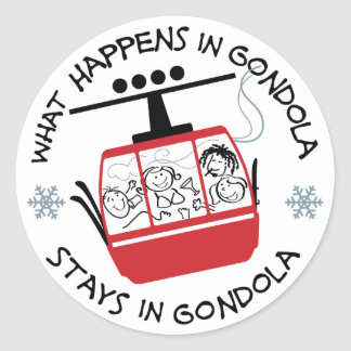 Gondola Ride Sticker