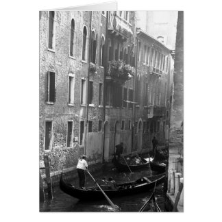 Gondola Ride Venice Italy Card