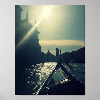 Gondola Sun Poster