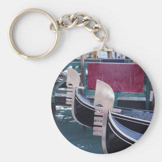 Gondolas Basic Round Button Key Ring