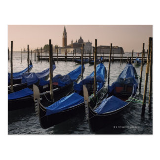 Gondolas by Saint Marks Square in Italy Postcard