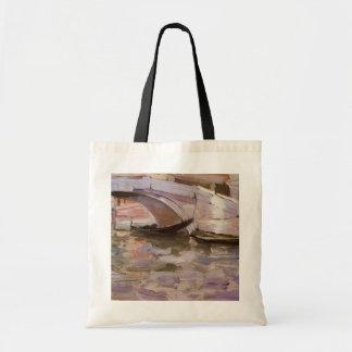 Gondolas by Sargent, Vintage Victorian Fine Art Canvas Bags