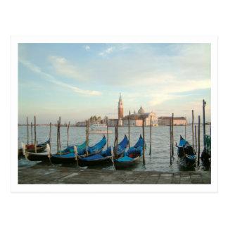 gondolas evening postcard