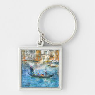Gondolas in the Grand Canal of Venice Italy Key Ring