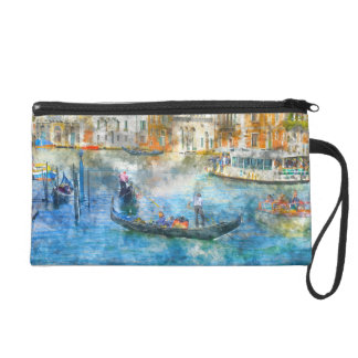 Gondolas in the Grand Canal of Venice Italy Wristlet