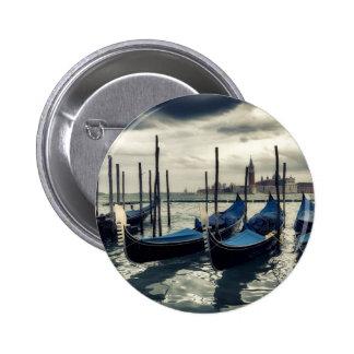 Gondolas in Venice 6 Cm Round Badge