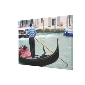 Gondolas in Venice canal Gallery Wrapped Canvas