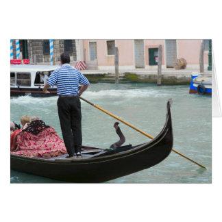 Gondolas in Venice canal Card